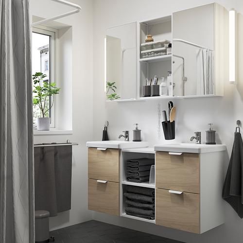 TVÄLLEN/ENHET - 浴室貯物組合 22件裝, oak effect/white Pilkån tap | IKEA 香港及澳門 - PE784212_S4