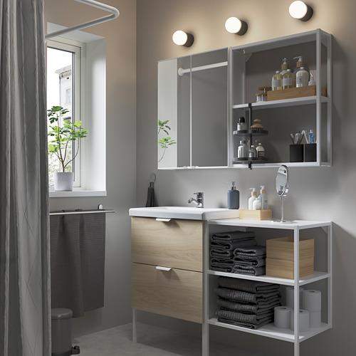 TVÄLLEN/ENHET - 浴室貯物組合 15件裝, 橡木紋/白色 PILKÅN水龍頭   IKEA 香港及澳門 - PE784219_S4