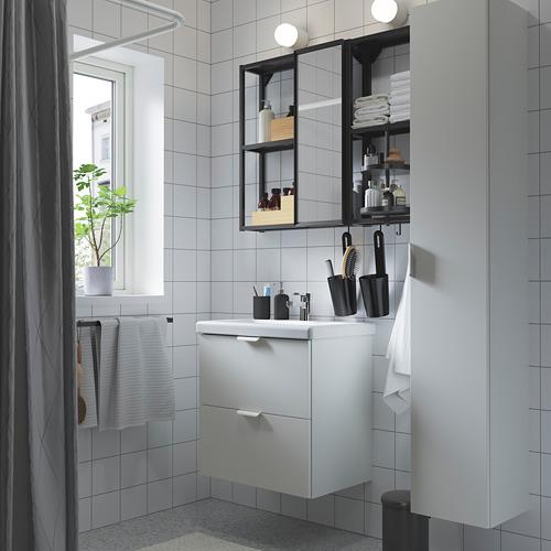 TVÄLLEN/ENHET - bathroom furniture, set of 18, white/anthracite Ensen tap | IKEA Hong Kong and Macau - PE784224_S4