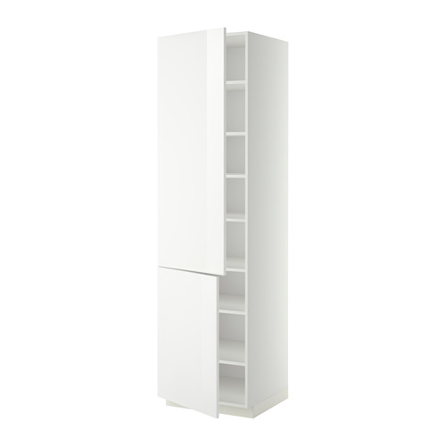 METOD high cabinet with shelves/2 doors