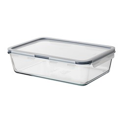 IKEA 365+ - food container with lid, rectangular/glass plastic, 3.1L | IKEA Hong Kong and Macau - PE687038_S3