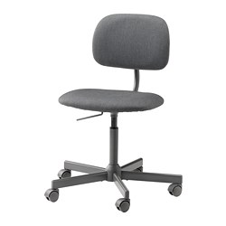 BLECKBERGET - 旋轉椅, Idekulla 深灰色 | IKEA 香港及澳門 - PE776013_S3