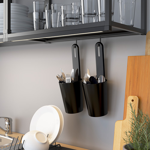 ENHET - 角位廚房, 炭黑色/白色 | IKEA 香港及澳門 - PE784282_S4