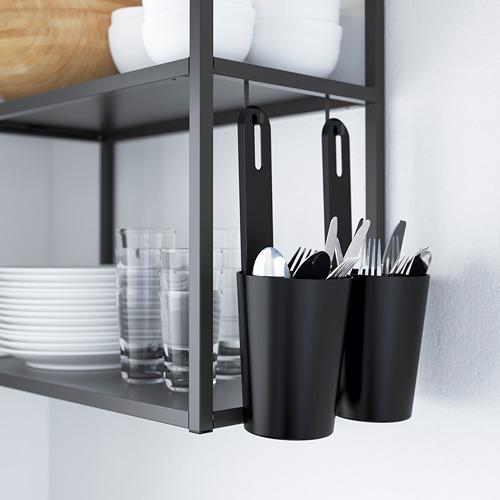 ENHET - 角位廚房, 炭黑色/白色 | IKEA 香港及澳門 - PE784297_S4