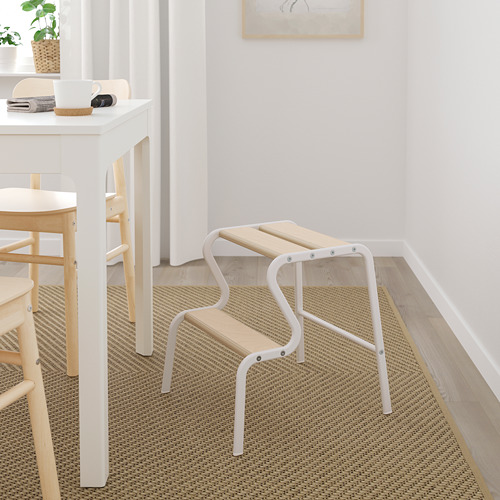 GRUBBAN - 腳踏, 白色/樺木   IKEA 香港及澳門 - PE784314_S4