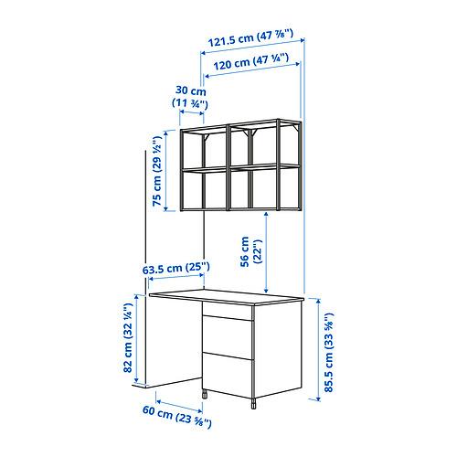 ENHET - 上牆式貯物架組合, anthracite/white | IKEA 香港及澳門 - PE829926_S4