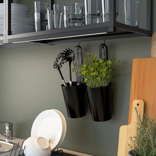 ENHET - storage combination for laundry, anthracite/white | IKEA 香港及澳門 - PE784312_S4