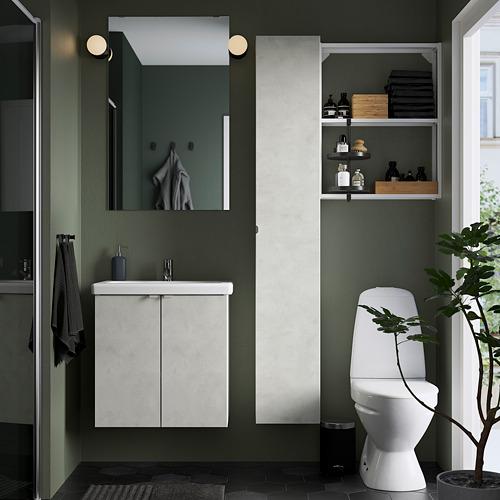 TVÄLLEN/ENHET - 浴室貯物組合 13件裝, 仿混凝土/白色 PILKÅN水龍頭 | IKEA 香港及澳門 - PE784380_S4