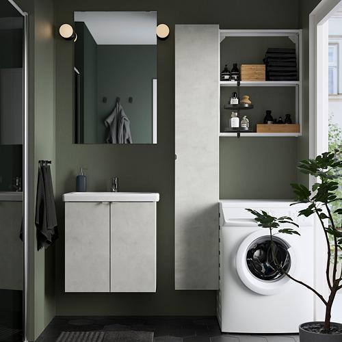 TVÄLLEN/ENHET - 浴室貯物組合 13件裝, 仿混凝土/白色 PILKÅN水龍頭 | IKEA 香港及澳門 - PE784381_S4