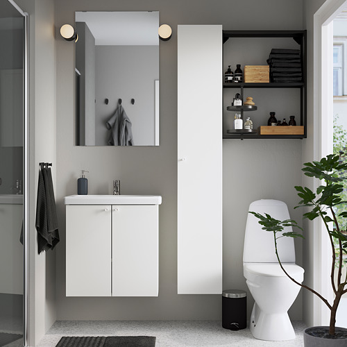 TVÄLLEN/ENHET - 浴室貯物組合 13件裝, 白色/炭黑色 PILKÅN水龍頭   IKEA 香港及澳門 - PE784388_S4