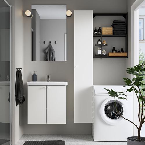 TVÄLLEN/ENHET - 浴室貯物組合 13件裝, 白色/炭黑色 PILKÅN水龍頭   IKEA 香港及澳門 - PE784389_S4