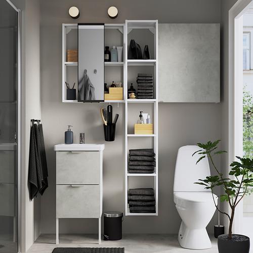 TVÄLLEN/ENHET - 浴室貯物組合 16件裝, 仿混凝土/白色 PILKÅN水龍頭   IKEA 香港及澳門 - PE784357_S4