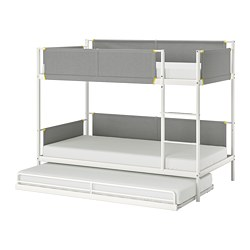 VITVAL - bunk bed frame with underbed, white/light grey | IKEA Hong Kong and Macau - PE730293_S3