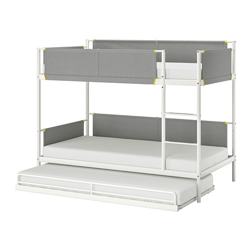 VITVAL - bunk bed frame with underbed, white/light grey | IKEA Hong Kong and Macau - PE730293_S4