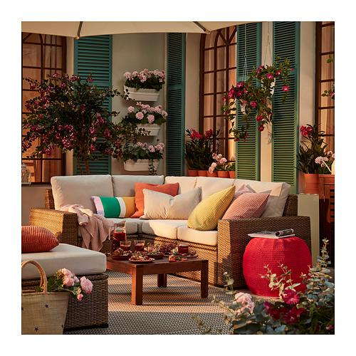 SOLLERÖN - modular corner sofa 3-seat, outdoor, brown/Frösön/Duvholmen beige | IKEA Hong Kong and Macau - PE730297_S4