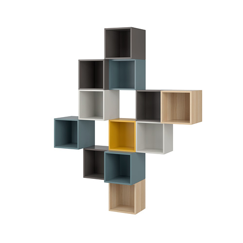 EKET - wall-mounted cabinet combination, multicolour 2 | IKEA Hong Kong and Macau - PE784407_S4