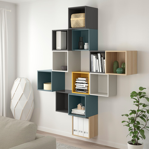 EKET - wall-mounted cabinet combination, multicolour 2 | IKEA Hong Kong and Macau - PE784406_S4