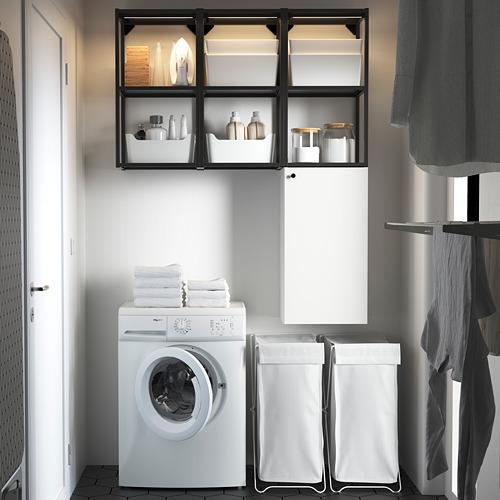ENHET - storage combination for laundry, anthracite/white | IKEA 香港及澳門 - PE784432_S4