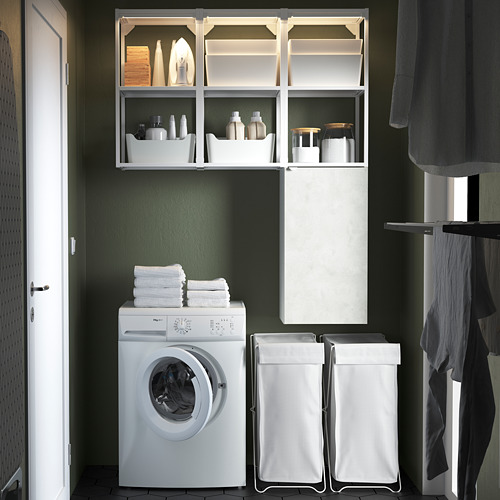 ENHET - storage combination for laundry, white/concrete effect | IKEA 香港及澳門 - PE784435_S4