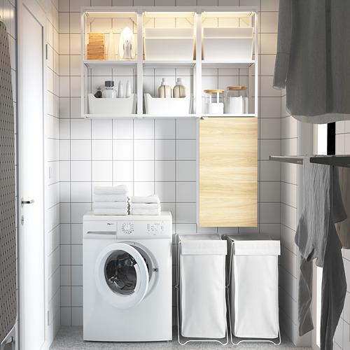 ENHET - storage combination for laundry, white/oak effect | IKEA 香港及澳門 - PE784437_S4