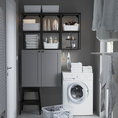 ENHET - 上牆式貯物架組合, anthracite/grey frame | IKEA 香港及澳門 - PE784440_S4