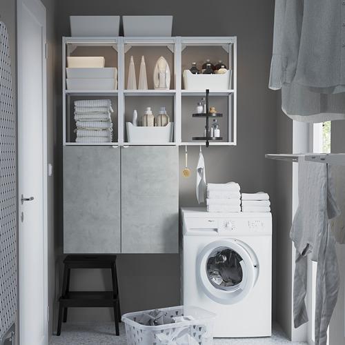 ENHET - 上牆式貯物架組合, white/concrete effect | IKEA 香港及澳門 - PE784444_S4