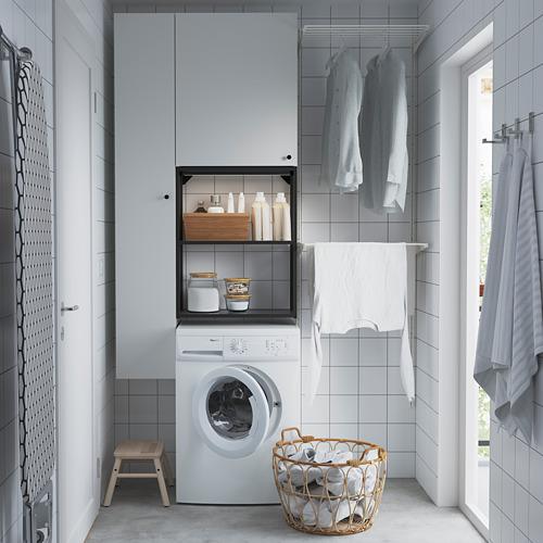 ENHET - storage combination for laundry, anthracite/white | IKEA 香港及澳門 - PE784455_S4