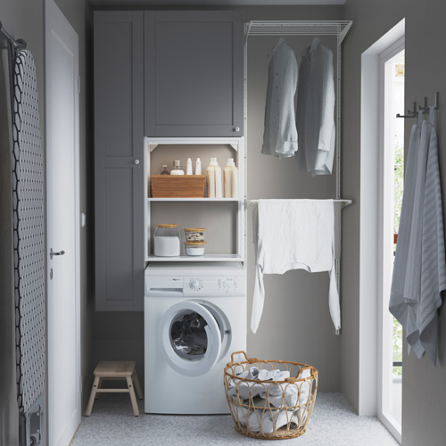 ENHET - storage combination for laundry, white/grey frame | IKEA 香港及澳門 - PE784450_S4