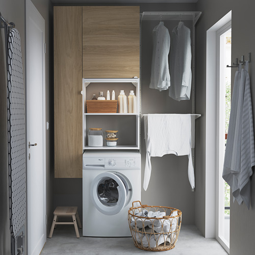 ENHET - storage combination for laundry, white/oak effect   IKEA 香港及澳門 - PE784456_S4