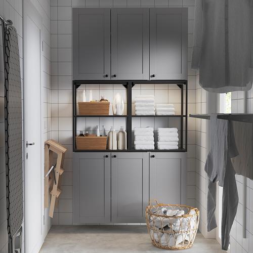 ENHET - 上牆式貯物架組合, anthracite/grey frame | IKEA 香港及澳門 - PE784458_S4