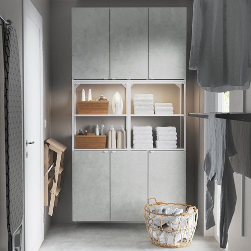 ENHET - 上牆式貯物架組合, white/concrete effect   IKEA 香港及澳門 - PE784461_S4
