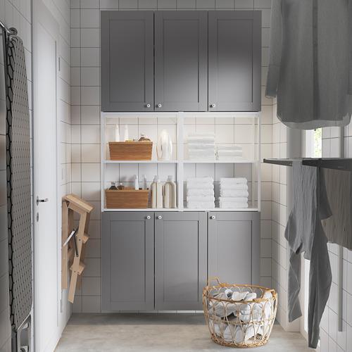 ENHET - 上牆式貯物架組合, white/grey frame | IKEA 香港及澳門 - PE784462_S4