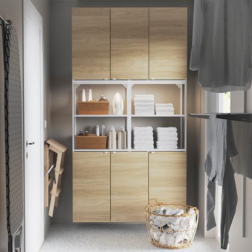 ENHET - 上牆式貯物架組合, white/oak effect | IKEA 香港及澳門 - PE784464_S4