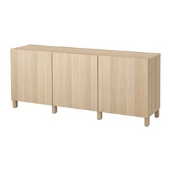 BESTÅ - storage combination with doors, Lappviken white stained oak effect | IKEA Hong Kong and Macau - PE574376_S3