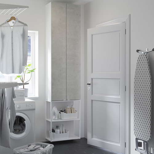ENHET - 上牆式貯物架組合, white/concrete effect | IKEA 香港及澳門 - PE784480_S4