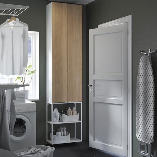 ENHET - 上牆式貯物架組合, white/oak effect | IKEA 香港及澳門 - PE784479_S4