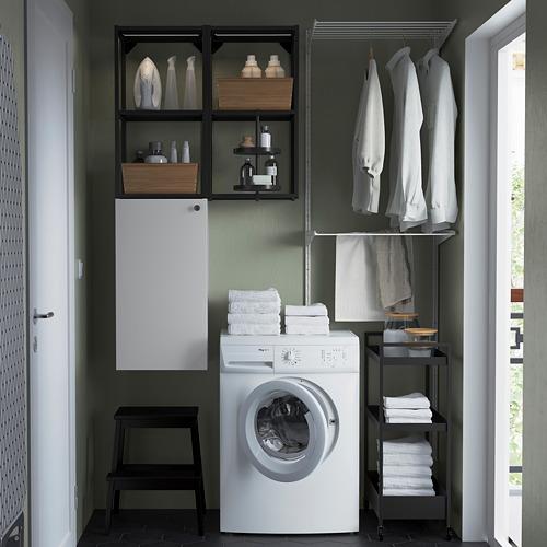 ENHET - 上牆式貯物架組合, anthracite/white | IKEA 香港及澳門 - PE784501_S4