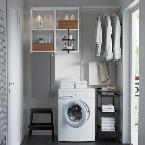 ENHET - 上牆式貯物架組合, white/grey frame | IKEA 香港及澳門 - PE784504_S4