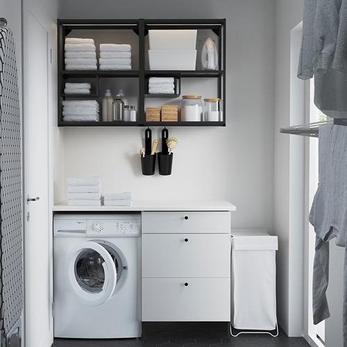 ENHET - 上牆式貯物架組合, anthracite/white | IKEA 香港及澳門 - PE784521_S4
