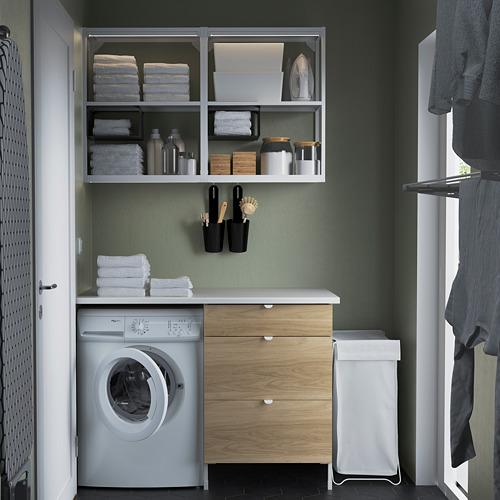 ENHET - 上牆式貯物架組合, white/oak effect   IKEA 香港及澳門 - PE784518_S4