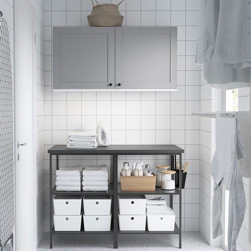 ENHET - 上牆式貯物架組合, anthracite/grey frame   IKEA 香港及澳門 - PE784514_S4
