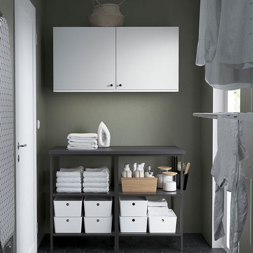 ENHET - 上牆式貯物架組合, anthracite/white | IKEA 香港及澳門 - PE784523_S4
