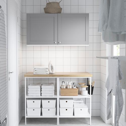 ENHET - 上牆式貯物架組合, white/grey frame | IKEA 香港及澳門 - PE784520_S4