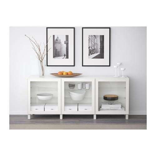 BESTÅ - 貯物組合連門, 白色/Glassvik 白色/透明玻璃 | IKEA 香港及澳門 - PE574453_S4