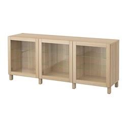 BESTÅ - 貯物組合連門, Sindvik 染白橡木/透明玻璃 | IKEA 香港及澳門 - PE574472_S3