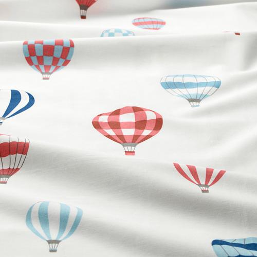 UPPTÅG - quilt cover and pillowcase, air balloon pattern/blue   IKEA Hong Kong and Macau - PE730326_S4