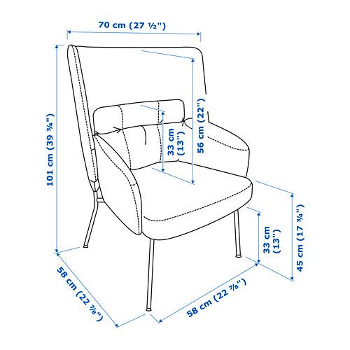 BINGSTA - high-back armchair, Vissle dark yellow/Kabusa dark yellow | IKEA Hong Kong and Macau - PE772790_S4