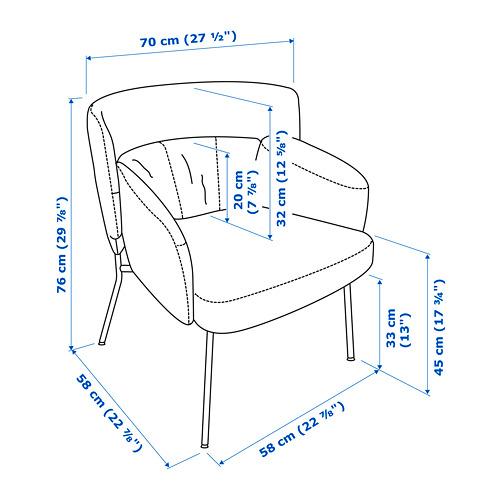 BINGSTA - 扶手椅, Vissle 深灰色/Kabusa 深灰色 | IKEA 香港及澳門 - PE772789_S4