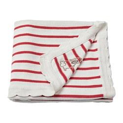 RÖDHAKE - 嬰兒暖氈, 條紋/白色/紅色 | IKEA 香港及澳門 - PE730398_S3