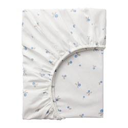 RÖDHAKE - 嬰兒床床笠, 白色/藍莓圖案 | IKEA 香港及澳門 - PE730402_S3